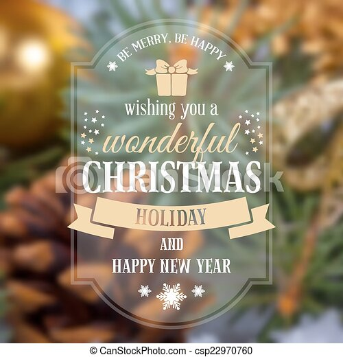 Christmas greeting card - csp22970760