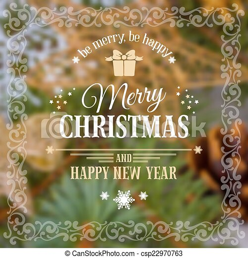 Christmas greeting card - csp22970763