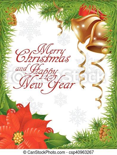 Christmas greeting card - csp40963267