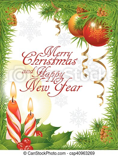 Christmas greeting card - csp40963269