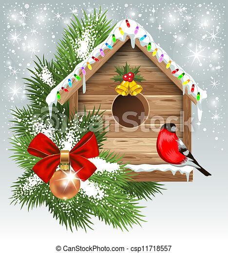 Christmas greeting card - csp11718557