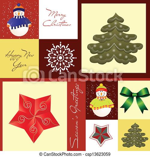Christmas Greeting card - csp13623059