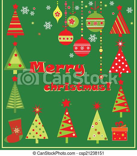 Christmas greeting card - csp21238151