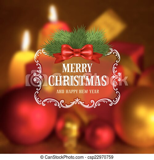 Christmas greeting card - csp22970759