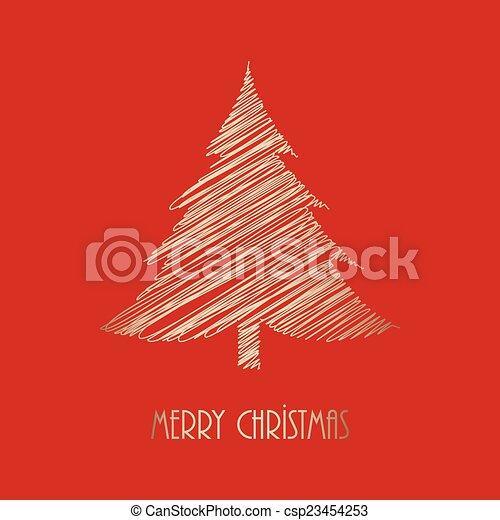 Christmas greeting card - csp23454253
