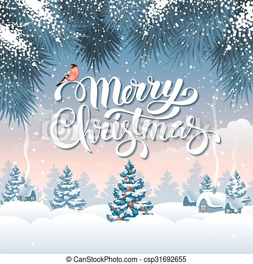 Christmas greeting card - csp31692655