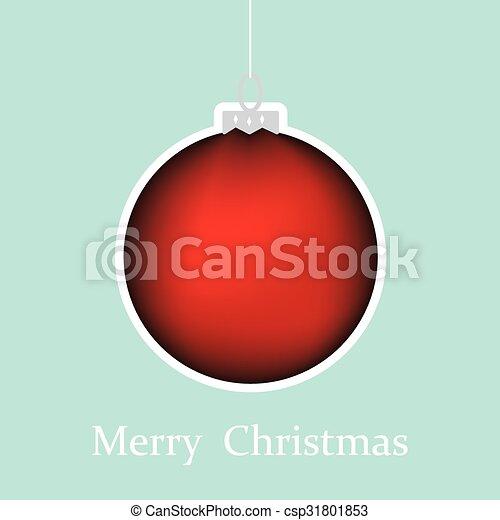 christmas greeting card - csp31801853