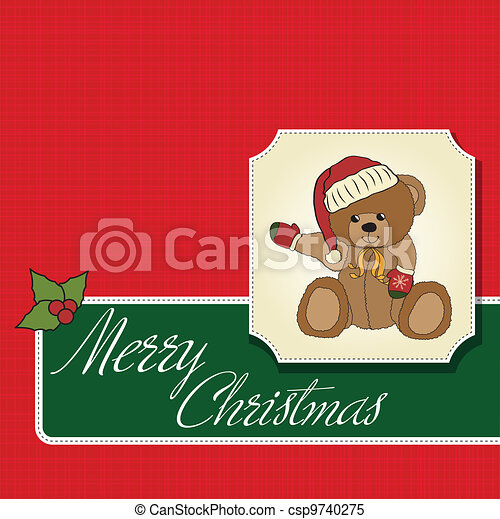 Christmas greeting card - csp9740275