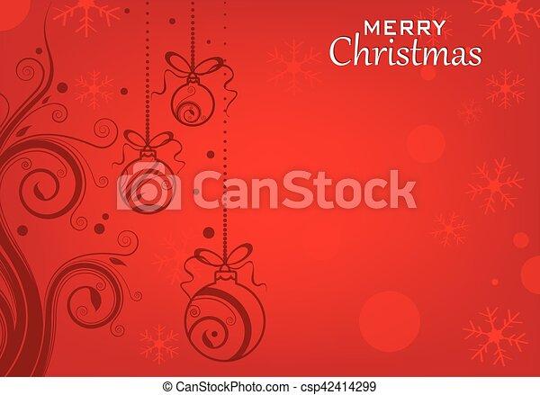 Christmas Greeting Card - csp42414299
