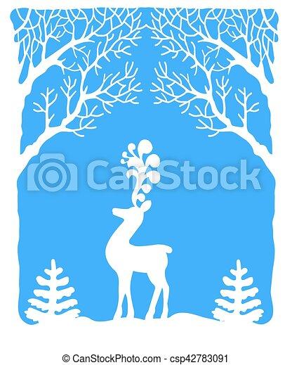 Christmas Greeting card - csp42783091