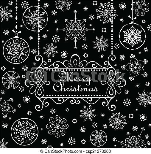 Christmas greeting card - csp21273288
