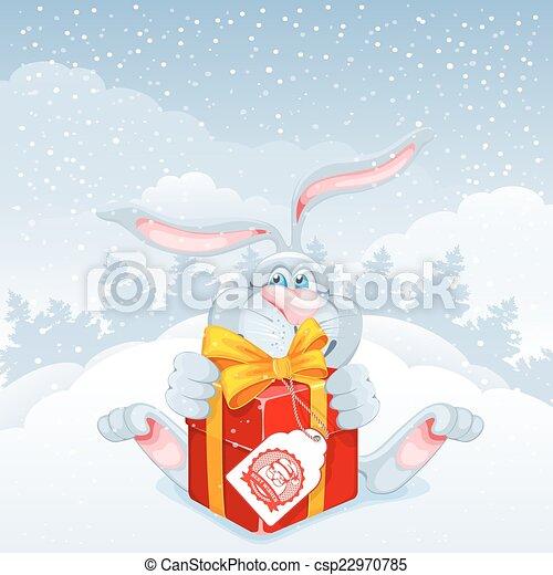 Christmas greeting card - csp22970785