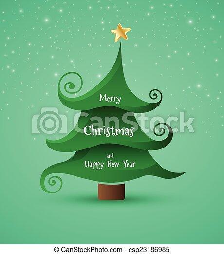 Christmas Greeting Card.  - csp23186985