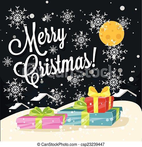 Christmas Greeting Card - csp23239447