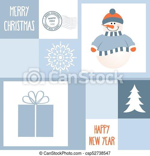 Christmas Greeting card - csp52738547
