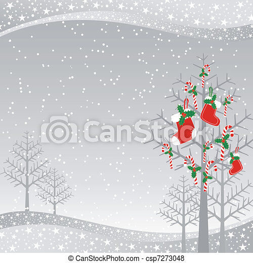 Christmas greeting card - csp7273048