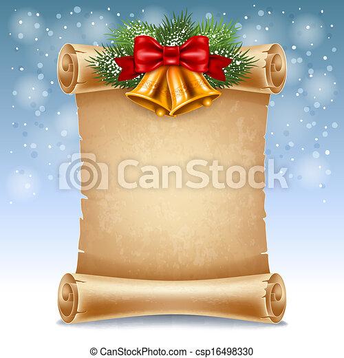 Christmas greeting card - csp16498330