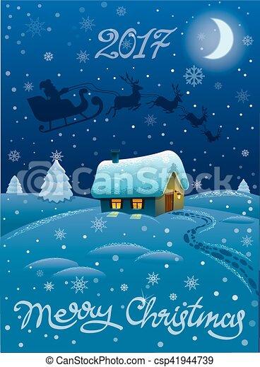 christmas greeting card - csp41944739