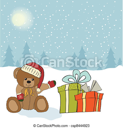 Christmas greeting card - csp8444923
