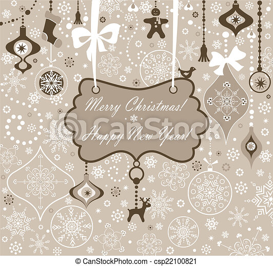 Christmas greeting card - csp22100821