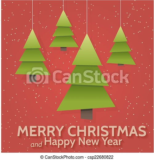 Christmas greeting card - csp22680822