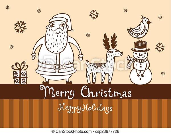 Christmas greeting card - csp23677726