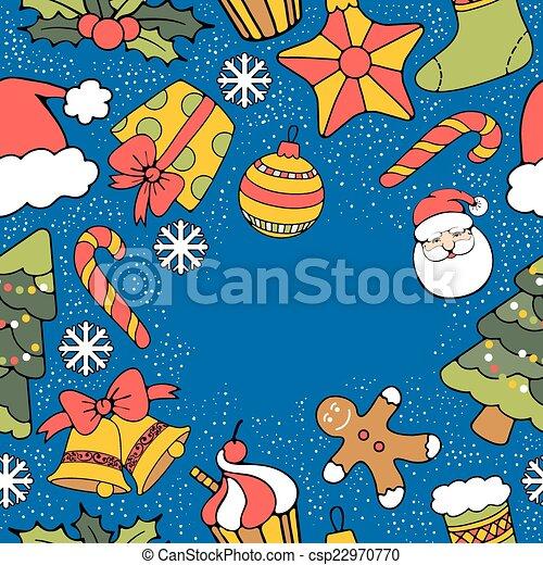 Christmas greeting card - csp22970770