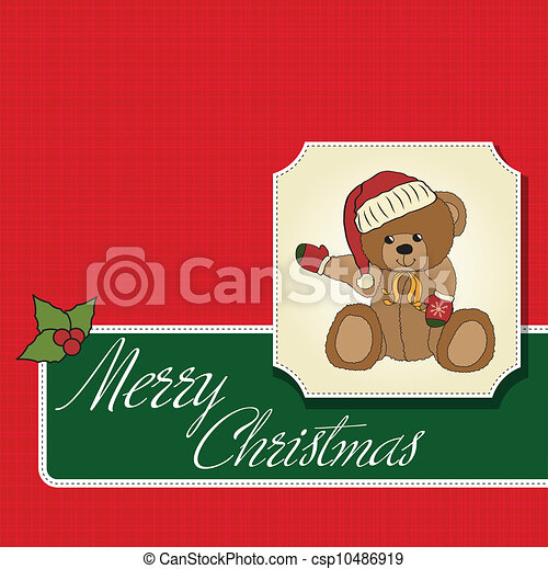 Christmas greeting card - csp10486919