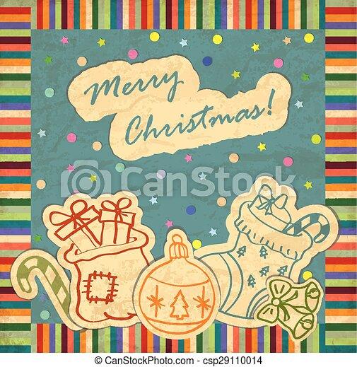 Christmas greeting card - csp29110014
