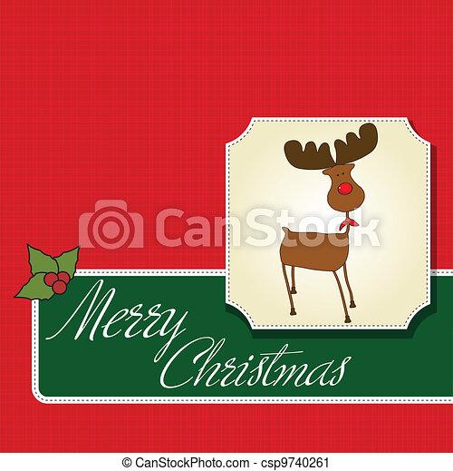 Christmas greeting card - csp9740261