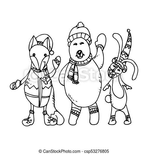 Christmas Card Drawing.Christmas Greeting Card