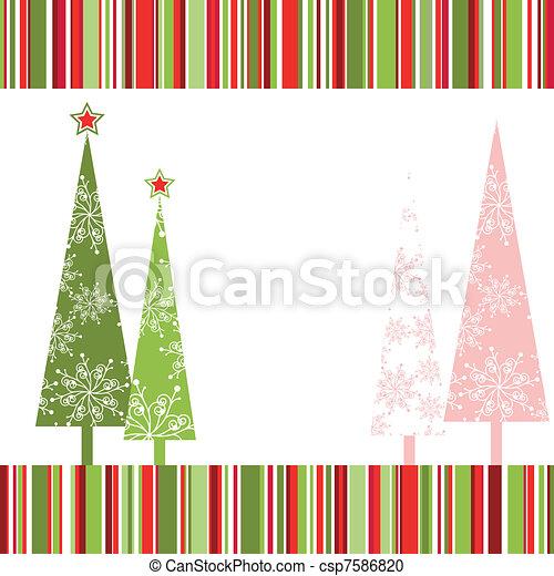 Christmas greeting card - csp7586820