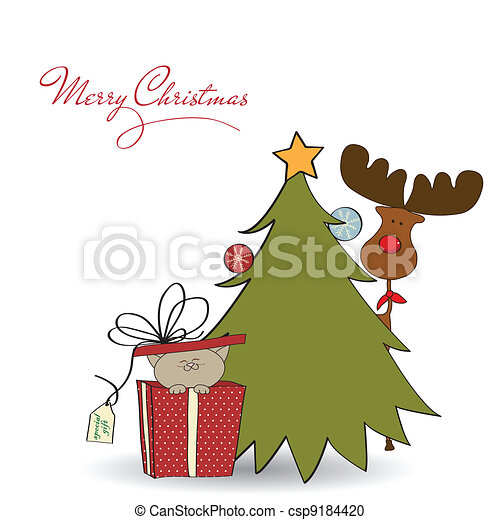 Christmas greeting card - csp9184420