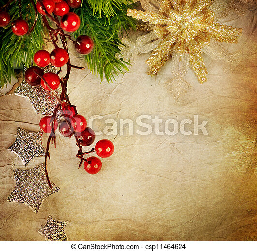 Christmas Greeting Card. Vintage Style - csp11464624