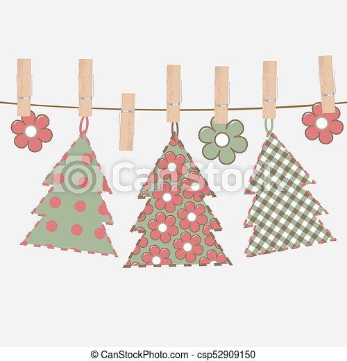 Christmas greeting card with Christmas tree - csp52909150