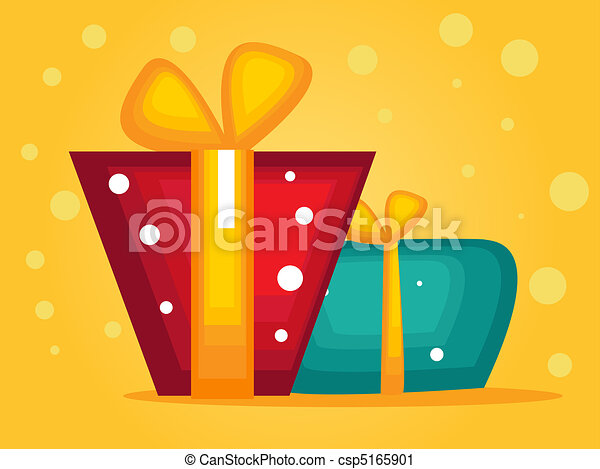 christmas greeting card with gifts - csp5165901