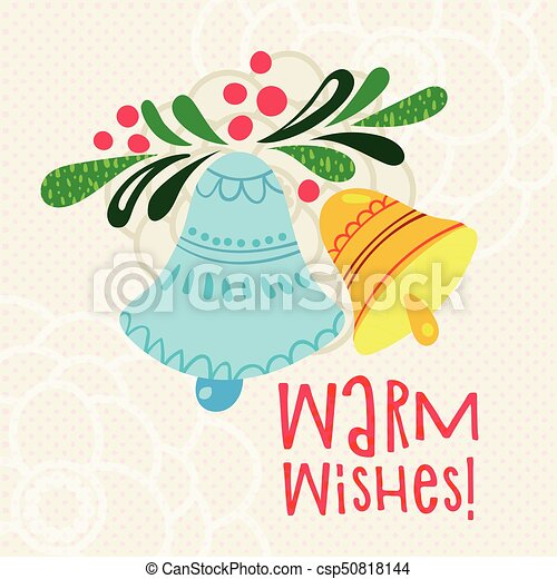 Christmas greeting warm wishes with bells letter christmas eps christmas greeting warm wishes with bells letter csp50818144 m4hsunfo