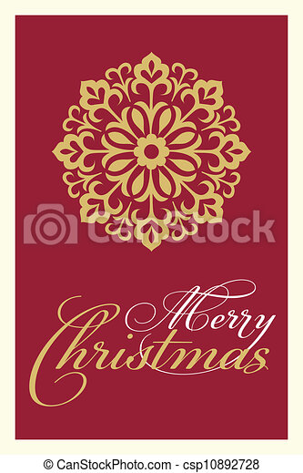 christmas greetings card - csp10892728