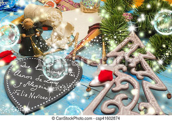Christmas Wishes In Spanish.Christmas Greetings Card Spanish Language