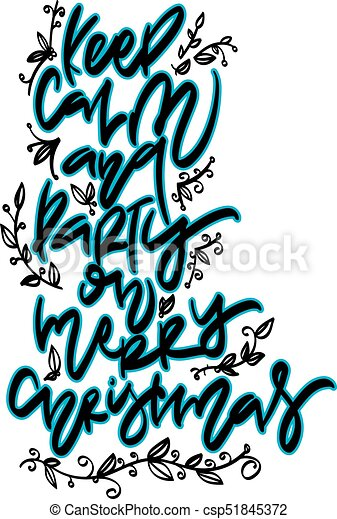 Christmas hand drawn lettering. - csp51845372
