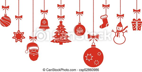Christmas Ornaments Background.Christmas Hanging Ornaments Background Christmas Banner
