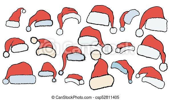 a5a787a4bb5 Christmas hats set. hand drawn christmas illustration