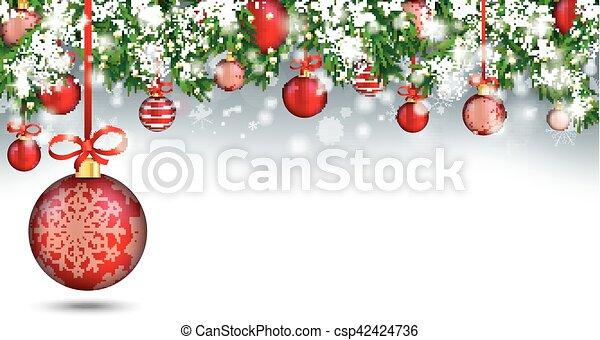 Christmas Header.Christmas Header Green Twigs Snow Baubles Big