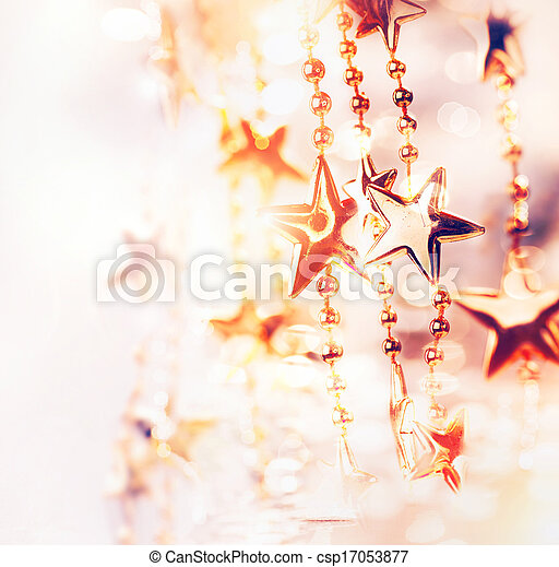 Christmas Holiday Abstract Background with Stars - csp17053877
