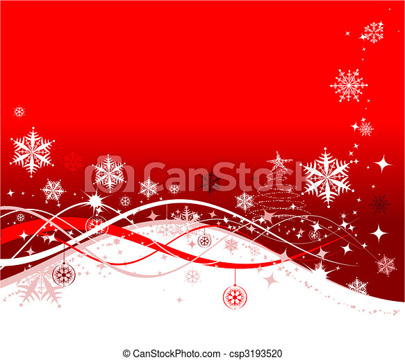 Christmas holiday background, vector illustration for your design - csp3193520