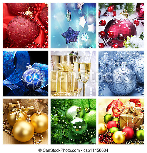 Christmas Holiday Collage  - csp11458604