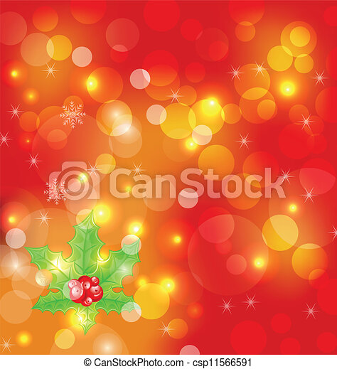 Christmas holiday wallpaper with decoration - csp11566591