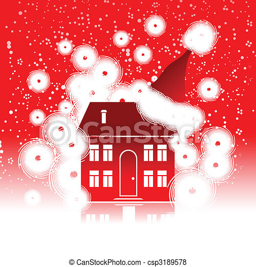 Christmas holiday, winter house - csp3189578