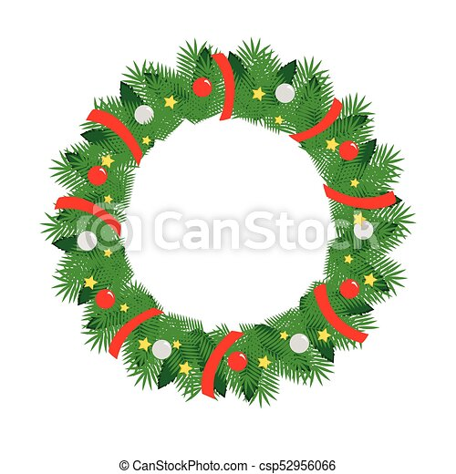 Christmas Wreath Vector.Christmas Holiday Wreath