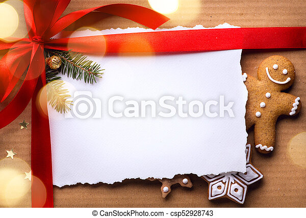 Christmas holidays surprise; Christmas greeting card background - csp52928743